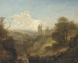 A wooded valley landscape with