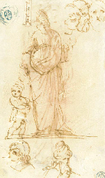 A study of a robed figure and