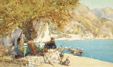 The boat ashore, Villefranche