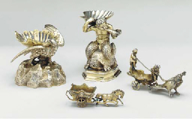 A GROUP OF SILVER-GILT AND GIL