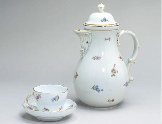 A MEISSEN PART TEA AND COFFEE
