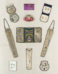 A GROUP OF SILK EMBROIDERIES,