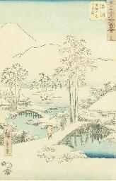 AN UTAGAWA HIROSHIGE LANDSCAPE