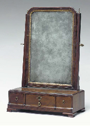 A GEORGE II WALNUT AND PARCEL