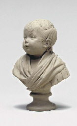PATINATED TERRACOTTA BUST OF A
