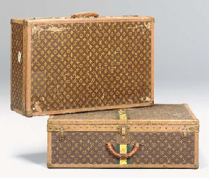A SET OF THREE LOUIS VUITTON B