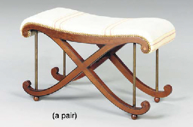 A PAIR OF REGENCY STYLE MAHOGA