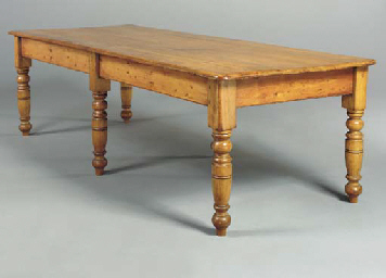 A VICTORIAN STAINED PINE DININ