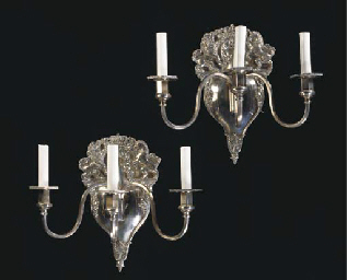 A PAIR OF GEORGE III STYLE SIL
