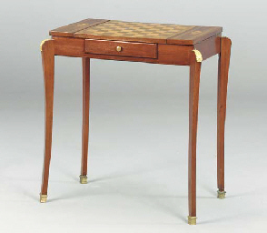 A MAHOGANY AND MARQUETRY GAMES