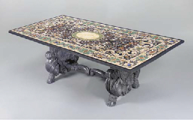 A PIETRA DURA TABLE,