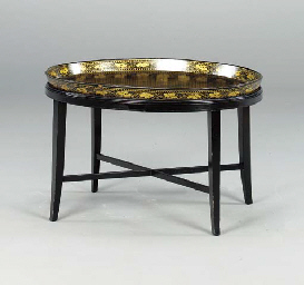 A REGENCY GILT-AND-EBONIZED PA