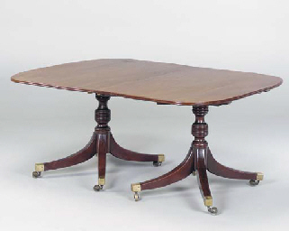 GEORGE IV STYLE MAHOGANY DOUBL