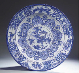 A very large Dutch Delft blue