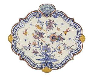 A Dutch Delft polychrome chino