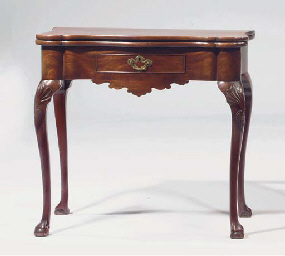 A DUTCH MAHOGANY GAMES TABLE