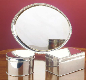 (3)  A set of Dutch silver bis