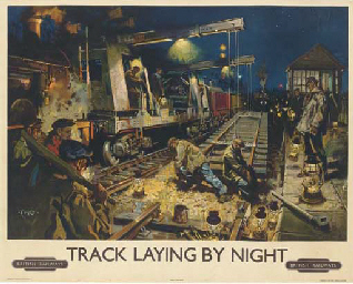 TRACK LAYING BY NIGHT
