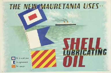 THE NEW MAURETANIA USES..SHELL