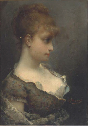 A young beauty in contemplatio
