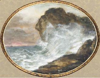 Un paysage avec une vague frac