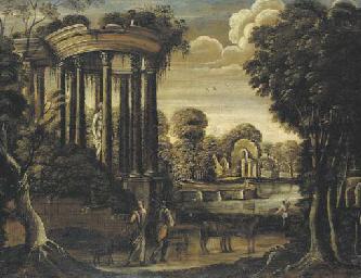 Paysage au temple