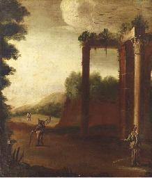 Paysage italianisant à décor d