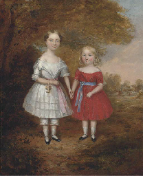 A double portrait of two young