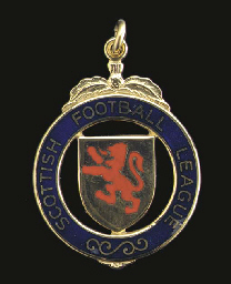 A 9CT GOLD AND ENAMEL SCOTTISH
