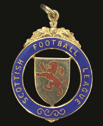A 9CT GOLD AND ENAMEL LEAGUE C