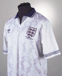 A WHITE ENGLAND 1990 WORLD CUP
