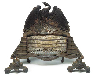 A VICTORIAN CAST IRON FIREGRAT