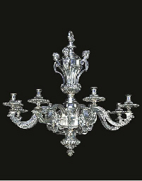 A FRENCH SILVERED BRONZE EIGHT