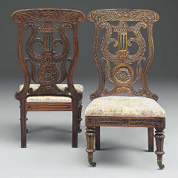 A PAIR OF ANGLO-INDIAN CHAIRS