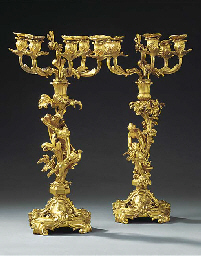 A PAIR OF FRENCH ORMOLU CANDEL