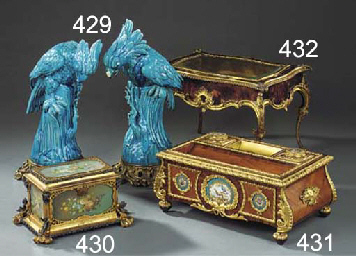 A NAPOLEON III ORMOLU AND KING