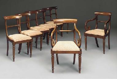 A SET OF EIGHT LATE REGENCY MA