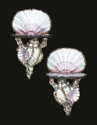 A PAIR OF VENETIAN SILVERED WO