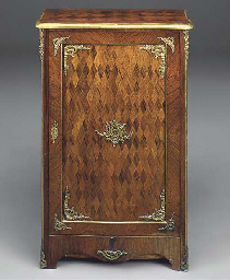 A GERMAN ROSEWOOD PARQUETRY AN
