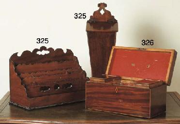 A GEORGE III MAHOGANY TEA-CADD