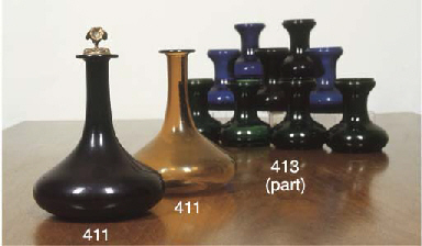 TWO ENGLISH DECANTERS AND AN O