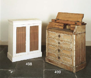A VICTORIAN STRIPPED PINE BURE