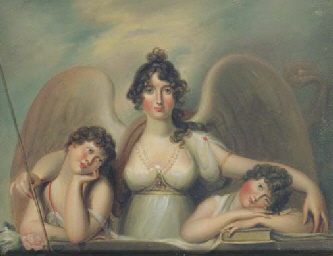 A LADY AS A GUARDIAN ANGEL WIT