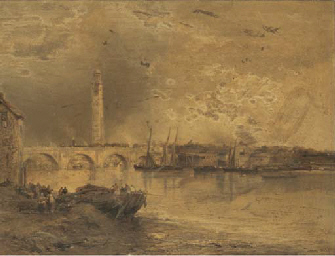 KEW BRIDGE FROM THE THAMES