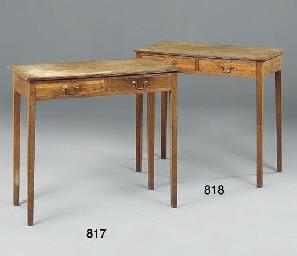A REGENCY OAK SIDE TABLE