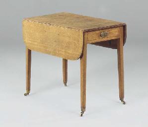 A REGENCY OAK PEMBROKE TABLE