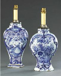 TWO DUTCH DELFT BLUE AND WHITE