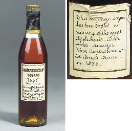 A BOTTLE OF 1853 HENNESSEY COGNAC PRESENTED IN MEMORY OF ARKLE
