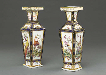 A PAIR OF CHELSEA VASES