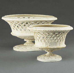 TWO COPELAND PARIAN BASKETS FR